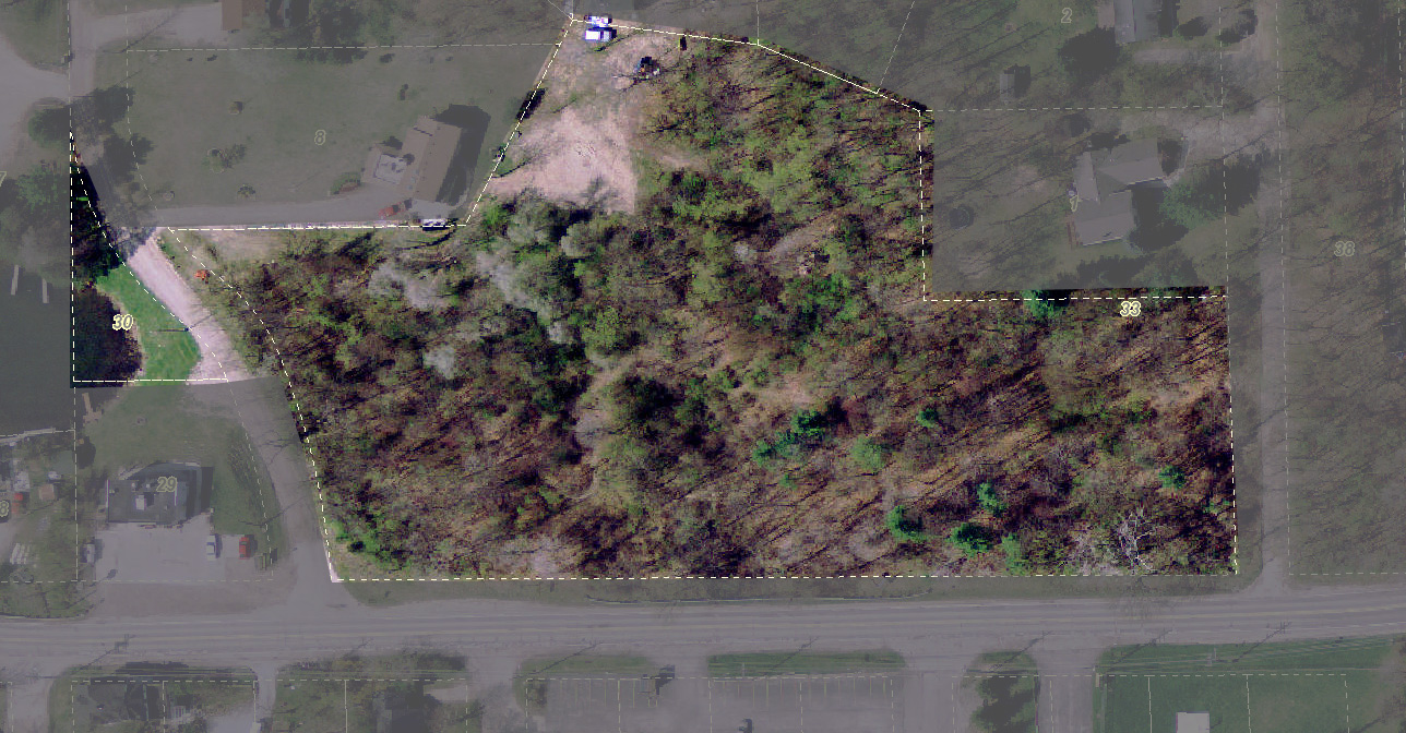 Satellite view of donated land